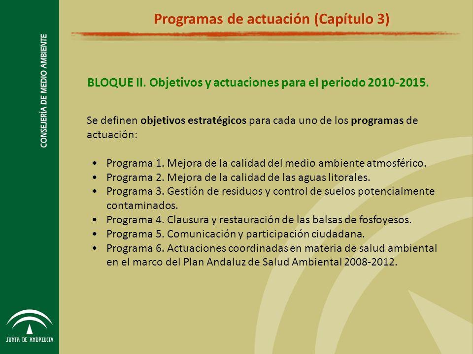 BLOQUE II.Objetivos y actuaciones para el periodo 2010-2015.