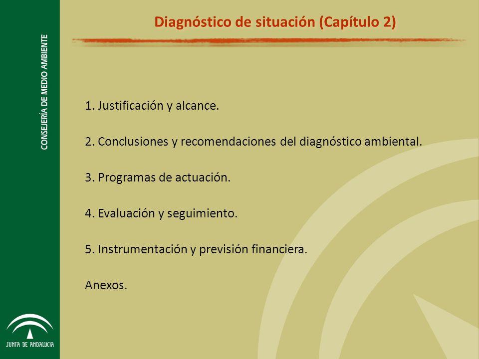 1.Justificación y alcance. 2. Conclusiones y recomendaciones del diagnóstico ambiental.