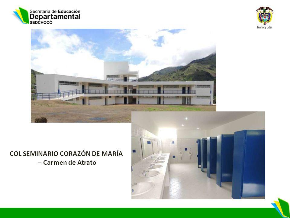 COL SEMINARIO CORAZÓN DE MARÍA – Carmen de Atrato
