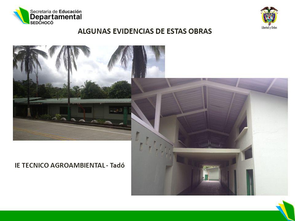 IE TECNICO AGROAMBIENTAL - Tadó ALGUNAS EVIDENCIAS DE ESTAS OBRAS