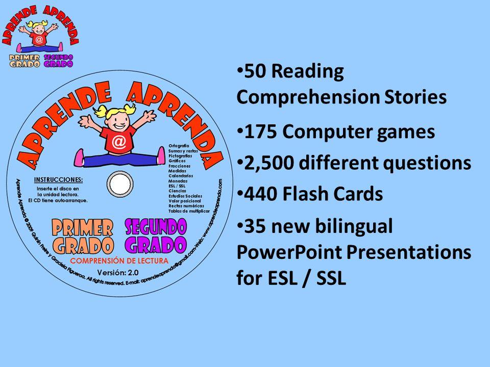 The FLASH CARDS are part of the Aprende Aprenda Program.