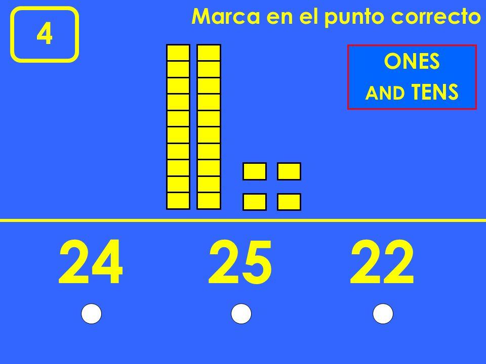 5 Marca en el punto correcto 2 4 1 4 4 2 FRACTIONS