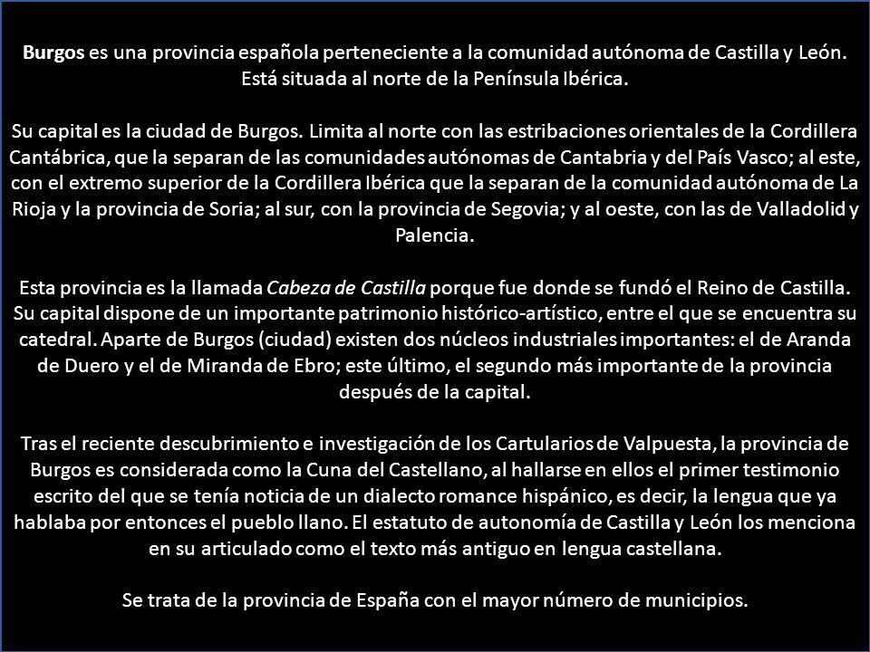 Escudo de la Provincia de Burgos Escudo de la Ciudad de Burgos Música: Canto de los pájaros, Pau Casals Auto 7 o clic
