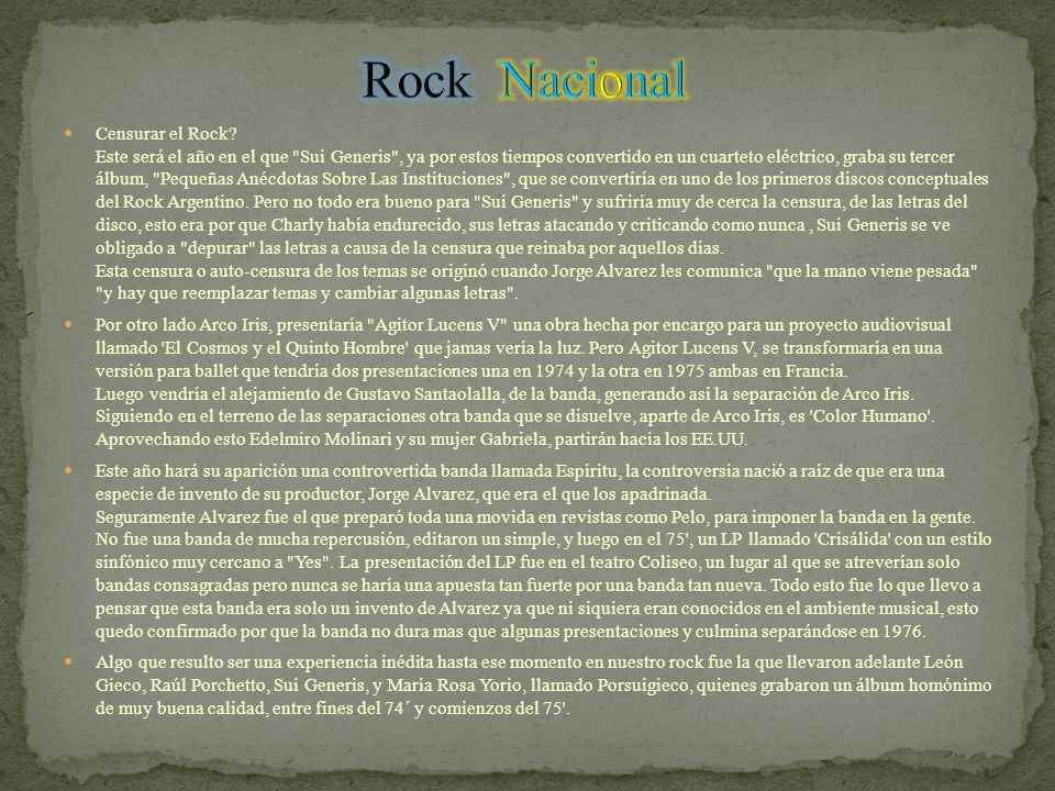 Censurar el Rock.
