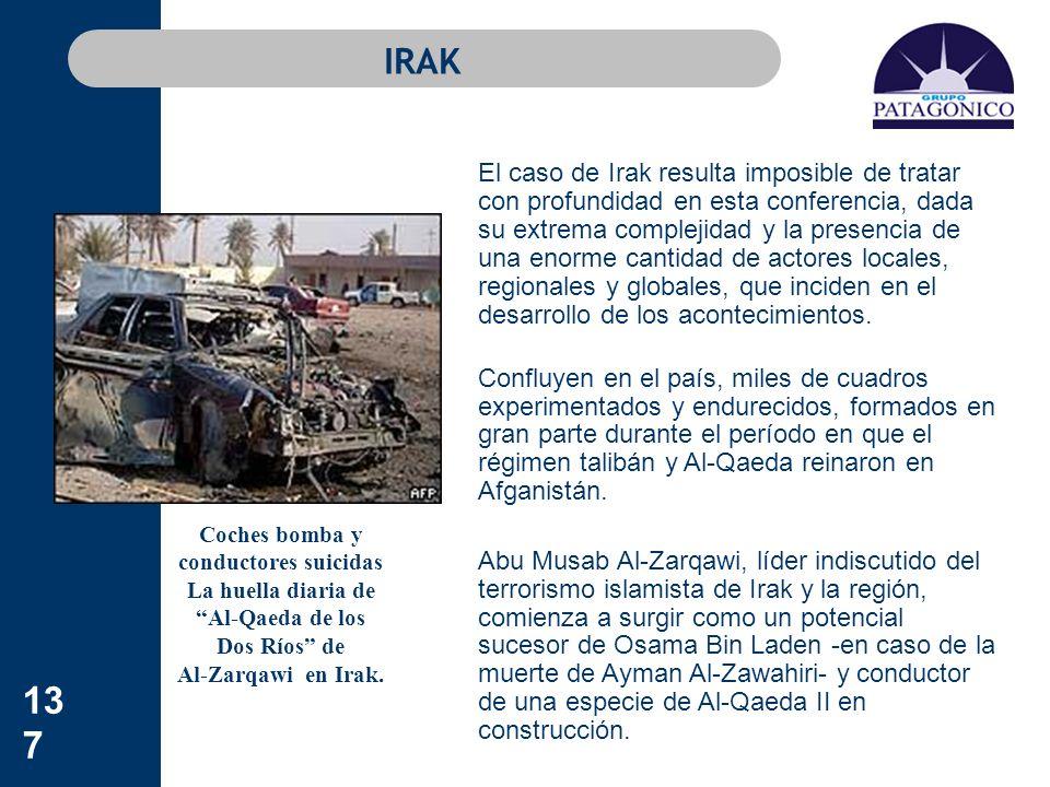 137 IRAK El caso de Irak resulta imposible de tratar con profundidad en esta conferencia, dada su extrema complejidad y la presencia de una enorme can