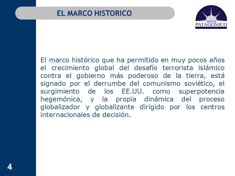145 TERRORISMO SECULAR Y TERRORISMO ISLAMISTA Al desafío islamista global se suma en la Argentina el peligro del narcoterrorismo regional con epicentro en Colombia, encabezado por las FARC, aliada con sociedades criminales asentadas en ese país y en casi toda la región.