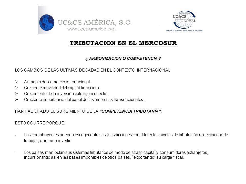 TRIBUTACION EN EL MERCOSUR ¿ ARMONIZACION O COMPETENCIA ? LOS CAMBIOS DE LAS ULTIMAS DECADAS EN EL CONTEXTO INTERNACIONAL: Aumento del comercio intern