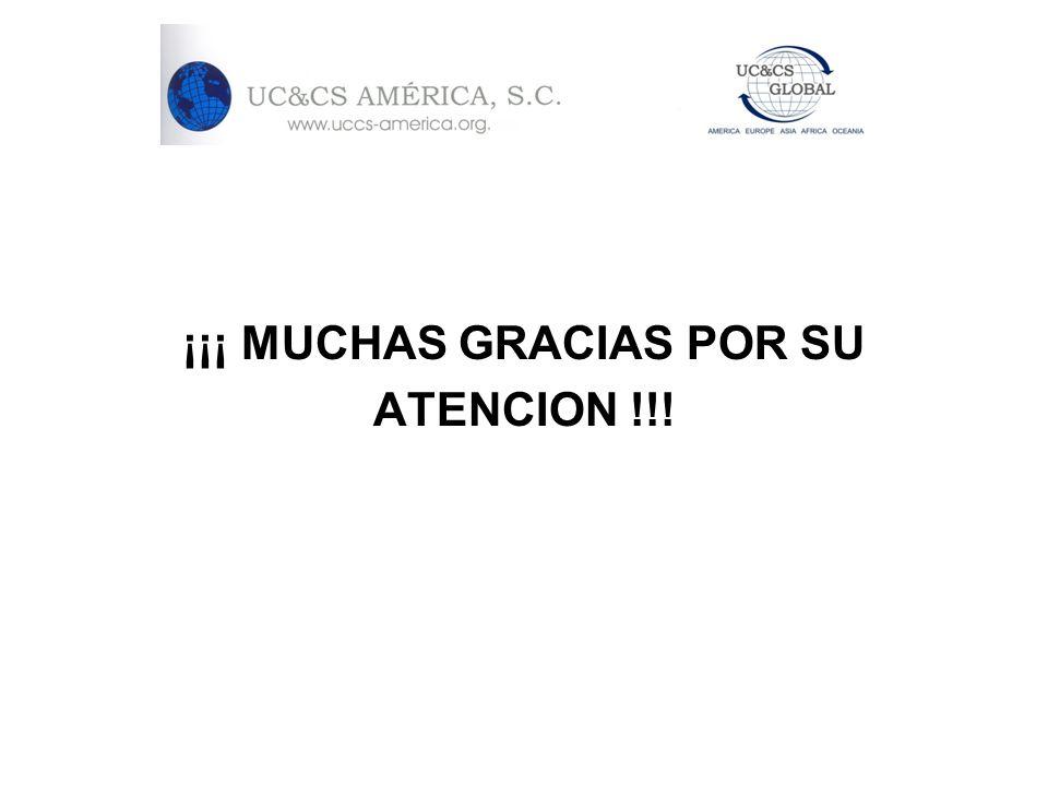 ¡¡¡ MUCHAS GRACIAS POR SU ATENCION !!!