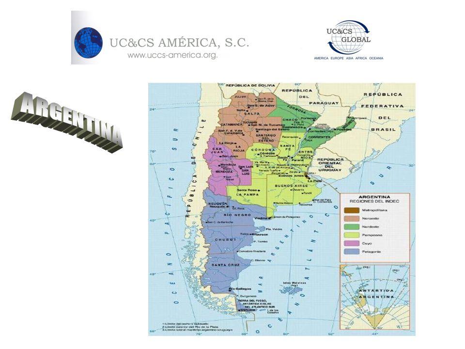 Datos generales de Argentina UBICACION GEOGRAFICA: EXTREMO MERIDIONAL DE AMERICA DEL SUR EXTENSION: 2° PAIS EN EXTENSION EN SURAMERICA.