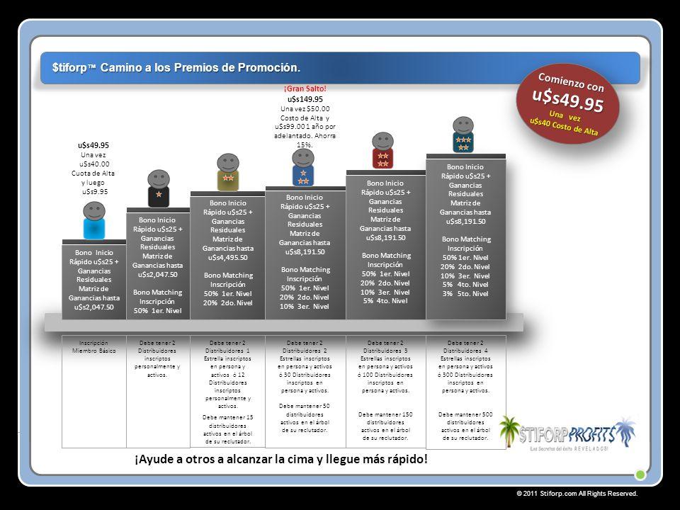 © 2011 Stiforp.com All Rights Reserved. $tiforp Camino a los Premios de Promoción.