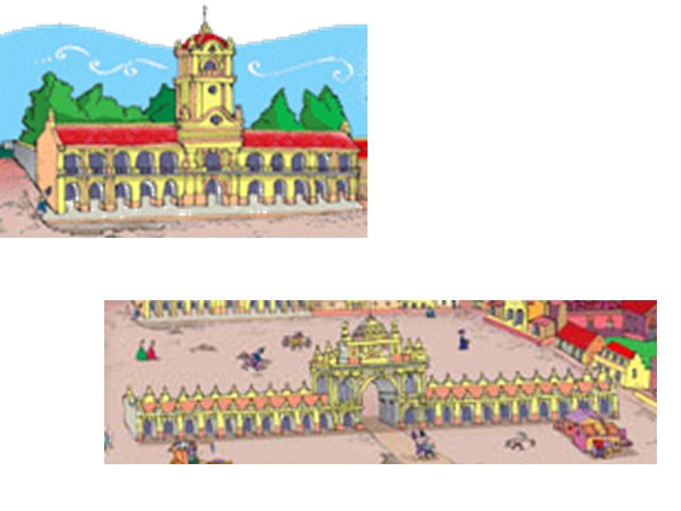 Calle de las Torres (hoy Rivadavia) Calle del Cabildo (hoy Hipólito Yrigoyen) Calle Liniers (hoy Defensa) Calle Arce (hoy Balcarce) Calle Victoria (hoy Bolívar)