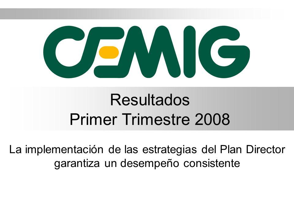 Resultados Primer Trimestre 2008 La implementación de las estrategias del Plan Director garantiza un desempeño consistente
