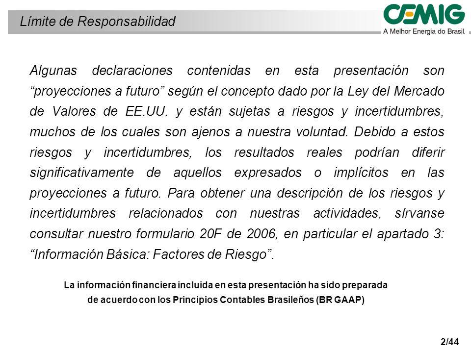 13/44 Evolución del beneficio económico Beneficio económico (millones de reales)