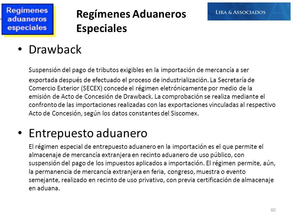 Regímenes Aduaneros Especiales Drawback Suspensión del pago de tributos exigibles en la importación de mercancía a ser exportada después de efectuado