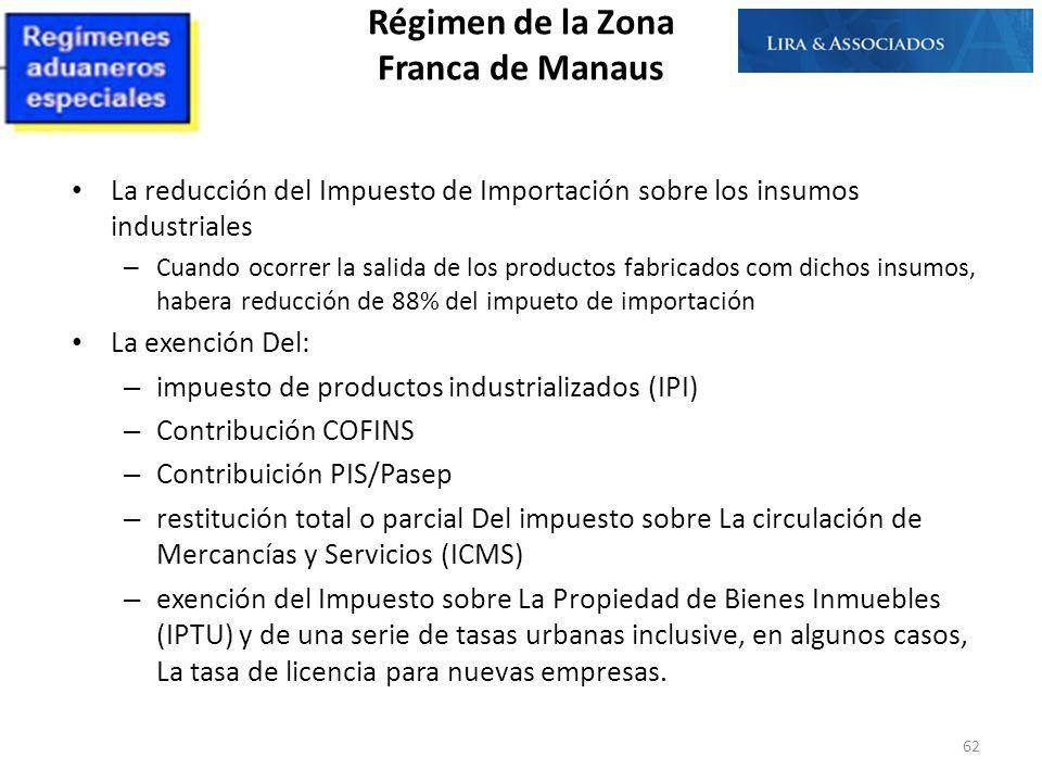 La reducción del Impuesto de Importación sobre los insumos industriales – Cuando ocorrer la salida de los productos fabricados com dichos insumos, hab