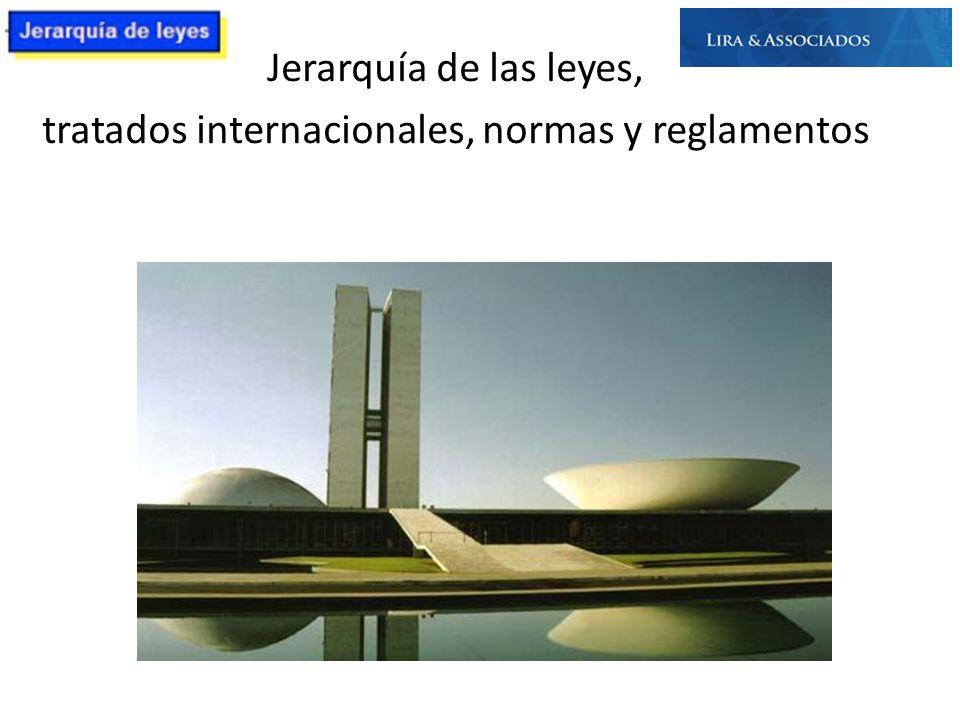 Jerarquía de las leyes, tratados internacionales, normas y reglamentos