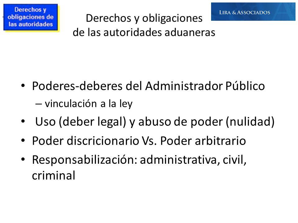 Poderes-deberes del Administrador Público – vinculación a la ley Uso (deber legal) y abuso de poder (nulidad) Poder discricionario Vs. Poder arbitrari