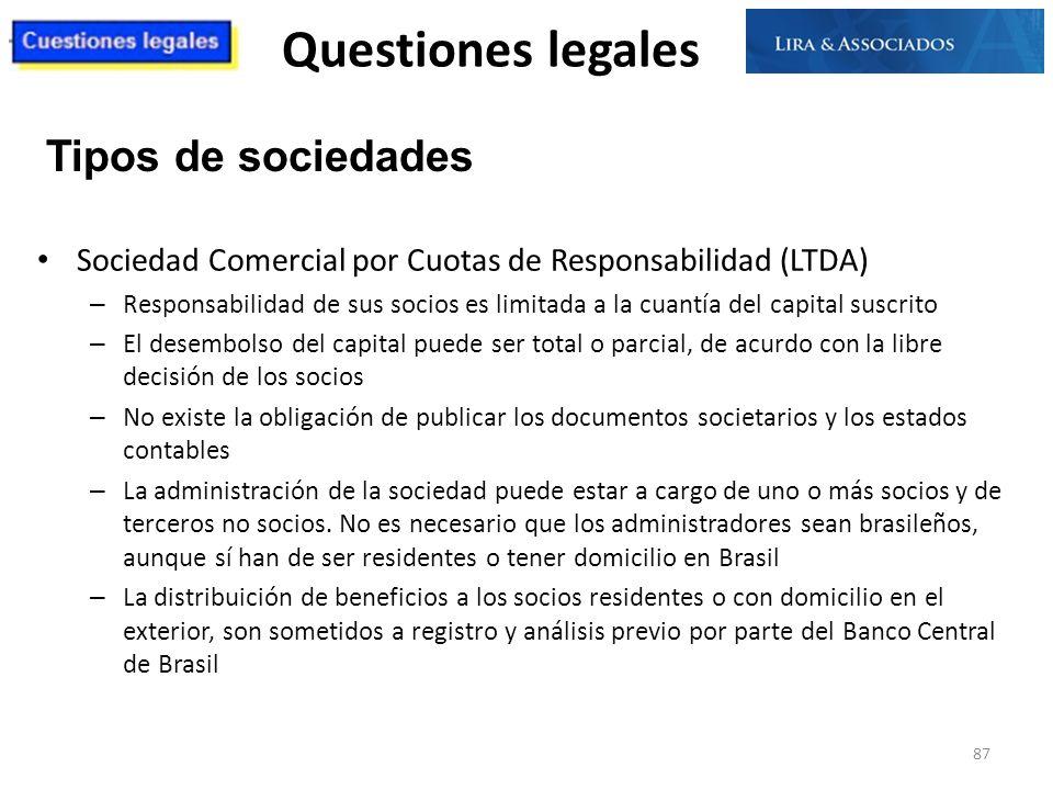 Questiones legales Sociedad Comercial por Cuotas de Responsabilidad (LTDA) – Responsabilidad de sus socios es limitada a la cuantía del capital suscri