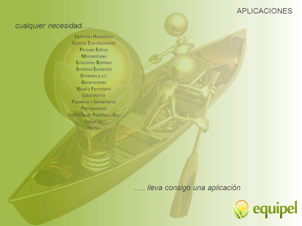 APLICACIONES cualquier necesidad….. ….. lleva consigo una aplicación