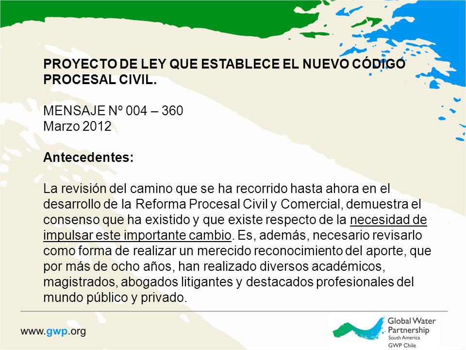 PROYECTO DE LEY QUE ESTABLECE EL NUEVO CÓDIGO PROCESAL CIVIL.
