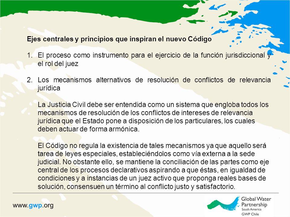 Ejes centrales y principios que inspiran el nuevo Código 1.El proceso como instrumento para el ejercicio de la función jurisdiccional y el rol del jue