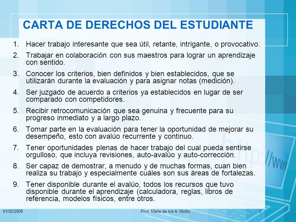 01/02/2008Prof.María de los A. Muñiz34 Pasos para Iniciar el Avalúo.