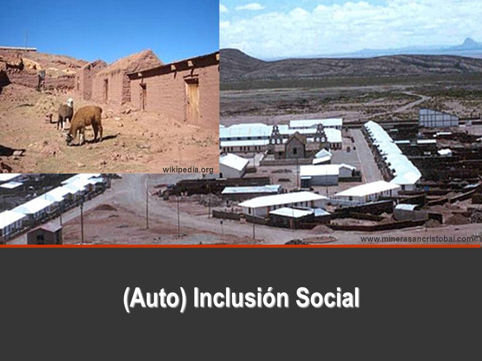 (Auto) Inclusión Social www.minerasancristobal.com wikipedia.org