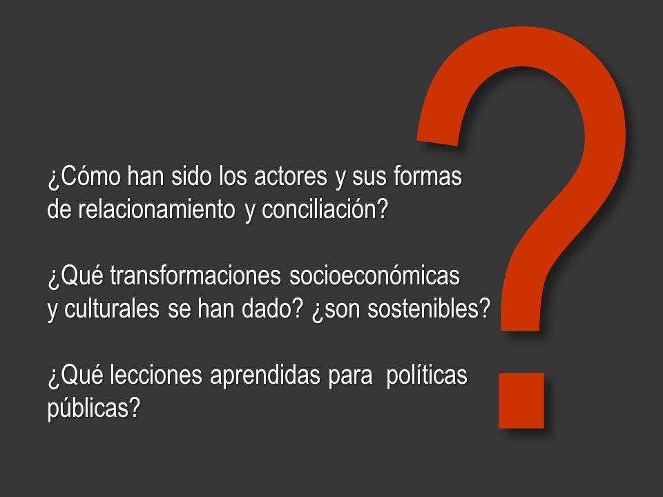 www.minerasancristobal.com ¿Cómo han sido los actores y sus formas de relacionamiento y conciliación? ¿Qué transformaciones socioeconómicas y cultural