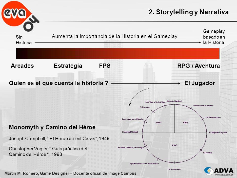 Martín M. Romero, Game Designer – Docente oficial de Image Campus 2. Storytelling y Narrativa Aumenta la importancia de la Historia en el Gameplay Sin
