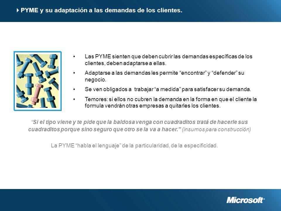 PYME y su adaptación a las demandas de los clientes.