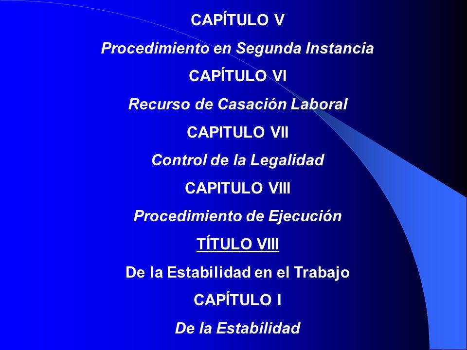 TÍTULO VII Procedimiento ante los Tribunales del Trabajo CAPÍTULO I Procedimiento en Primera Instancia CAPÍTULO II De la Audiencia Preliminar CAPÍTULO III Arbitraje CAPÍTULO IV Procedimiento de Juicio