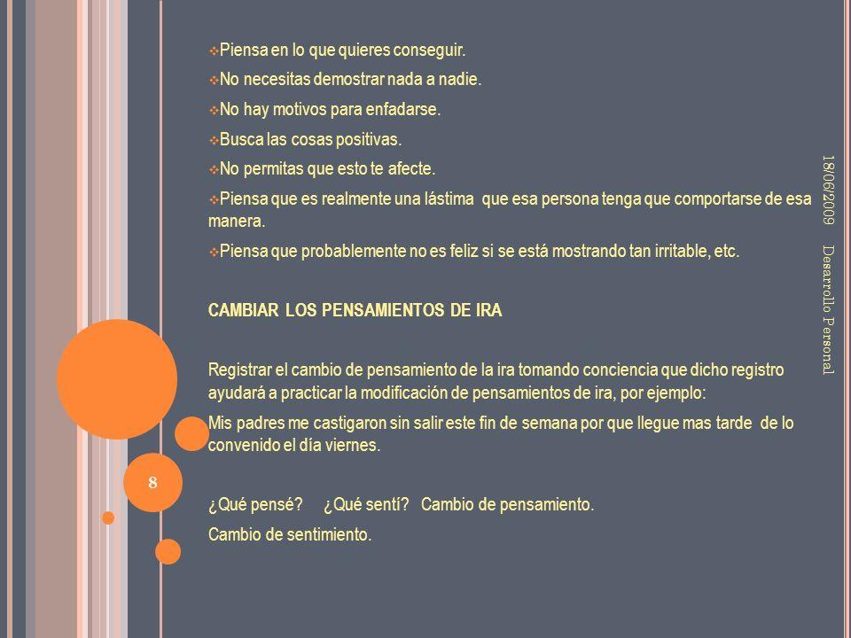 IMÁGENES 18/06/2009 9 Desarrollo Personal LAGRIMAS EN EL CIELO