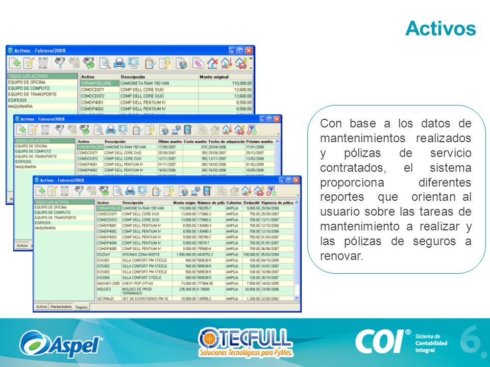 Con base a los datos de mantenimientos realizados y pólizas de servicio contratados, el sistema proporciona diferentes reportes que orientan al usuari