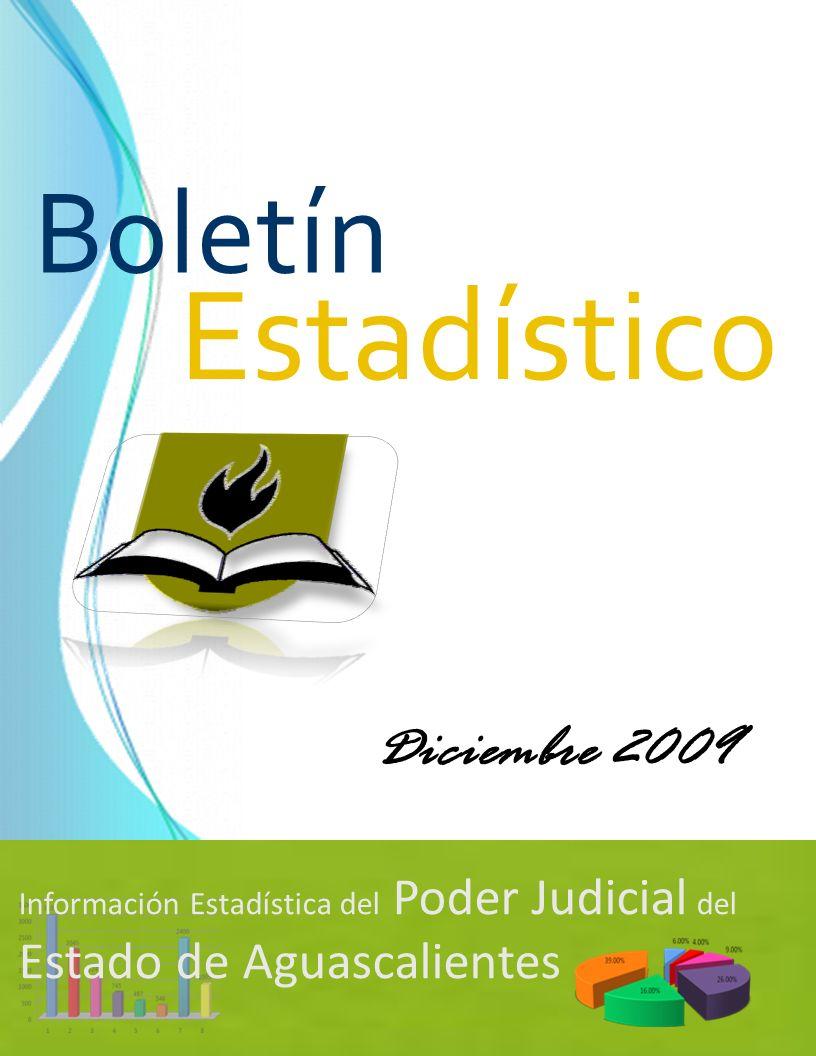 Información Estadística del Poder Judicial del Estado de Aguascalientes Estadístico Boletín Diciembre 2009