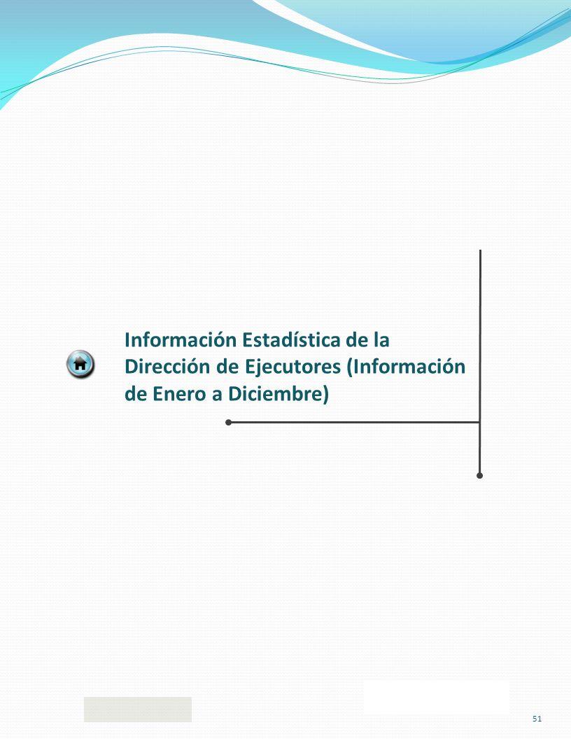 Información Estadística de la Dirección de Ejecutores (Información de Enero a Diciembre) 51