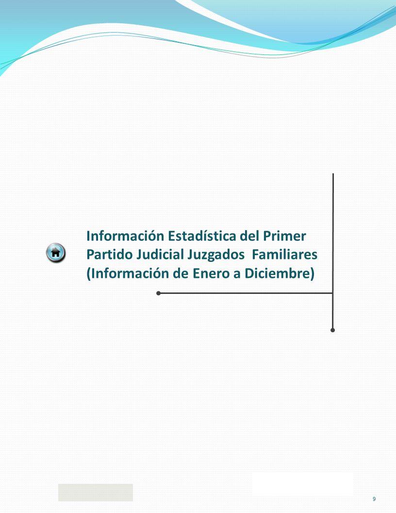 Información Estadística del Primer Partido Judicial Juzgados Familiares (Información de Enero a Diciembre) 9