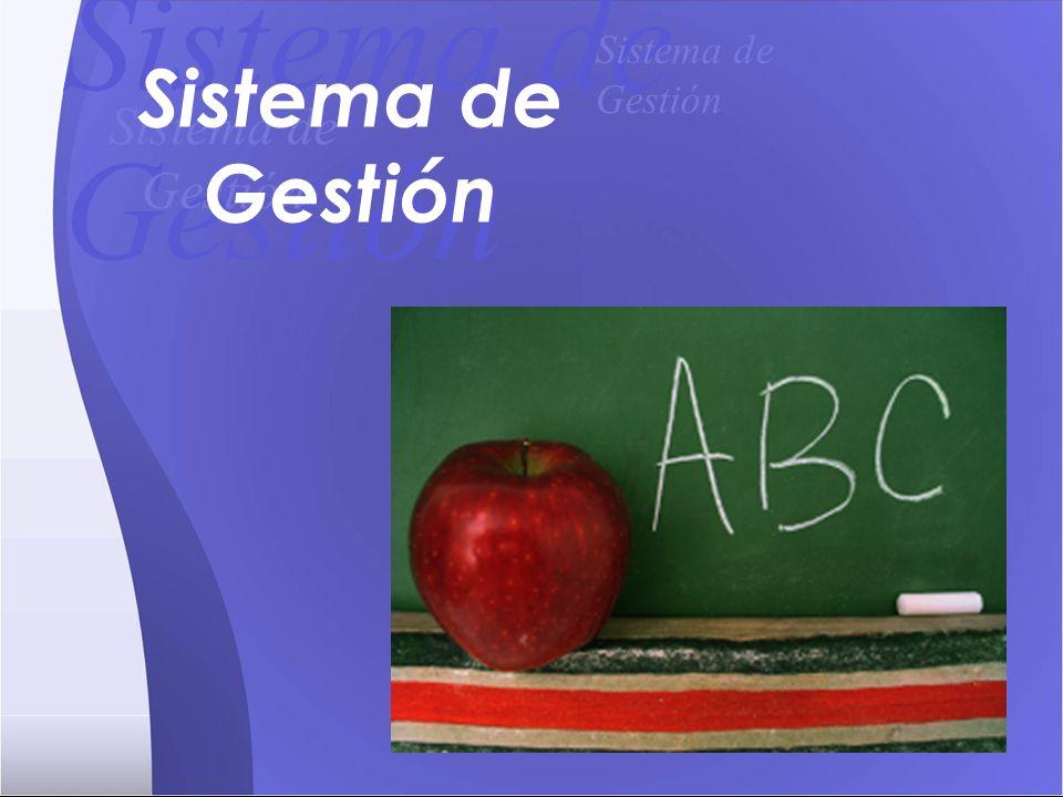 Sistema de Gestión Sistema de Gestión Sistema de Gestión Sistema de Gestión