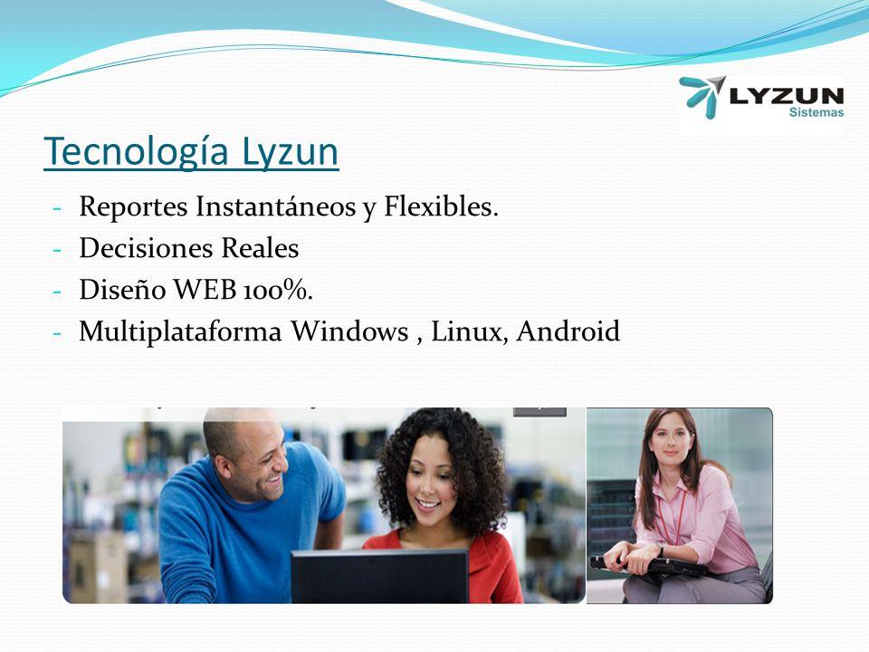 Tecnología Lyzun - Reportes Instantáneos y Flexibles.