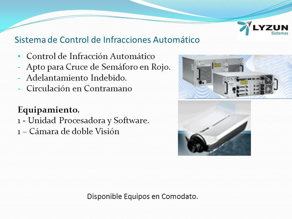 Sistema de Control de Infracciones Automático Control de Infracción Automático - Apto para Cruce de Semáforo en Rojo.