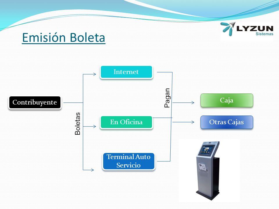 Contribuyente Internet En Oficina Terminal Auto Servicio Caja Otras Cajas Boletas Pagan Emisión Boleta