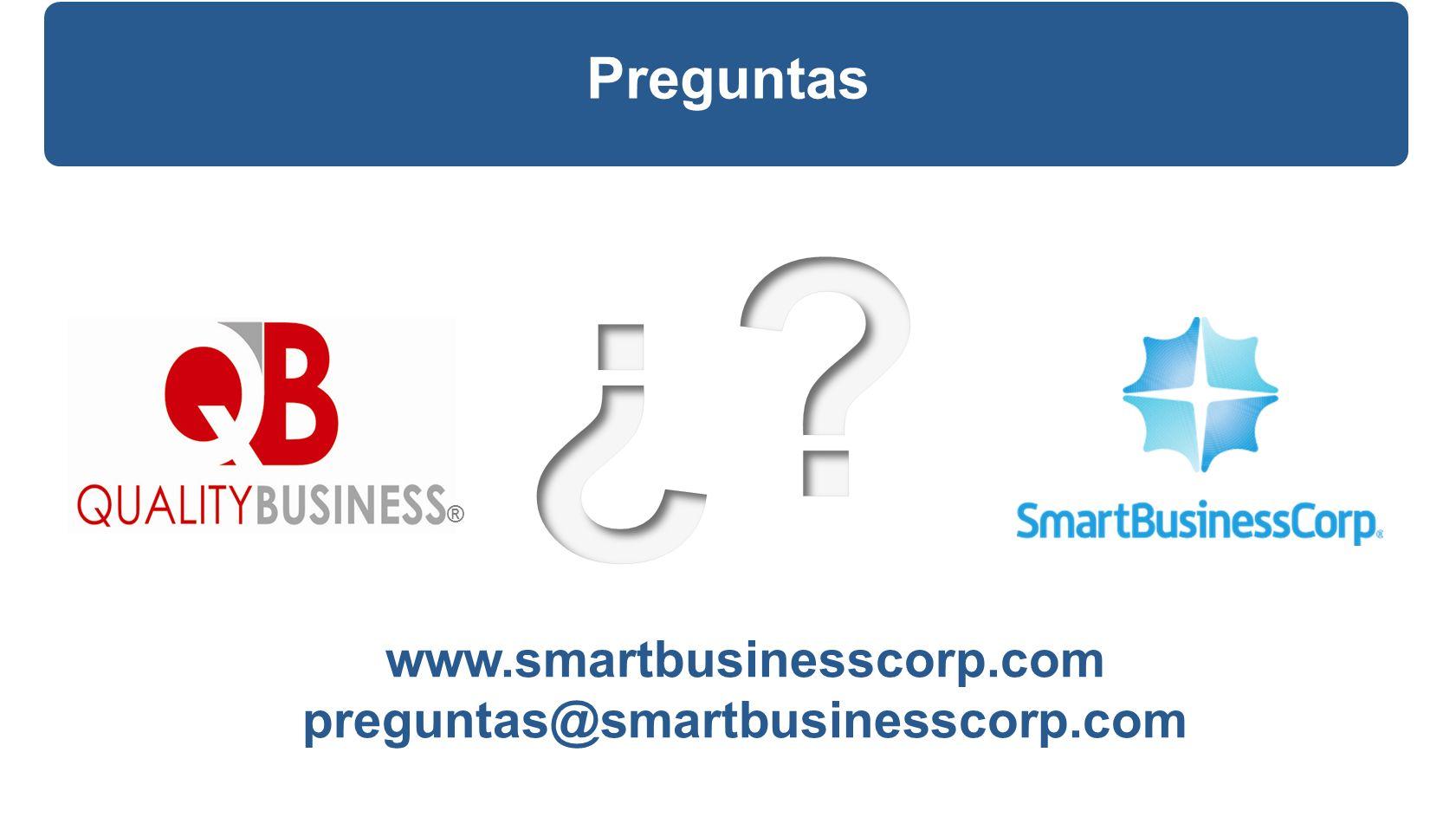 Preguntas ® www.smartbusinesscorp.com preguntas@smartbusinesscorp.com