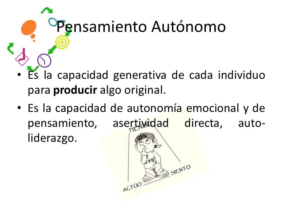Es la capacidad generativa de cada individuo para producir algo original.
