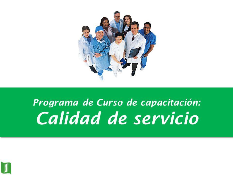 Programa de Curso de capacitación: Calidad de servicio
