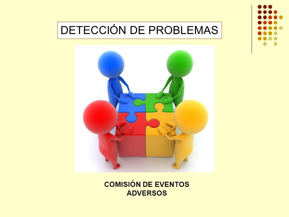 DETECCIÓN DE PROBLEMAS COMISIÓN DE EVENTOS ADVERSOS