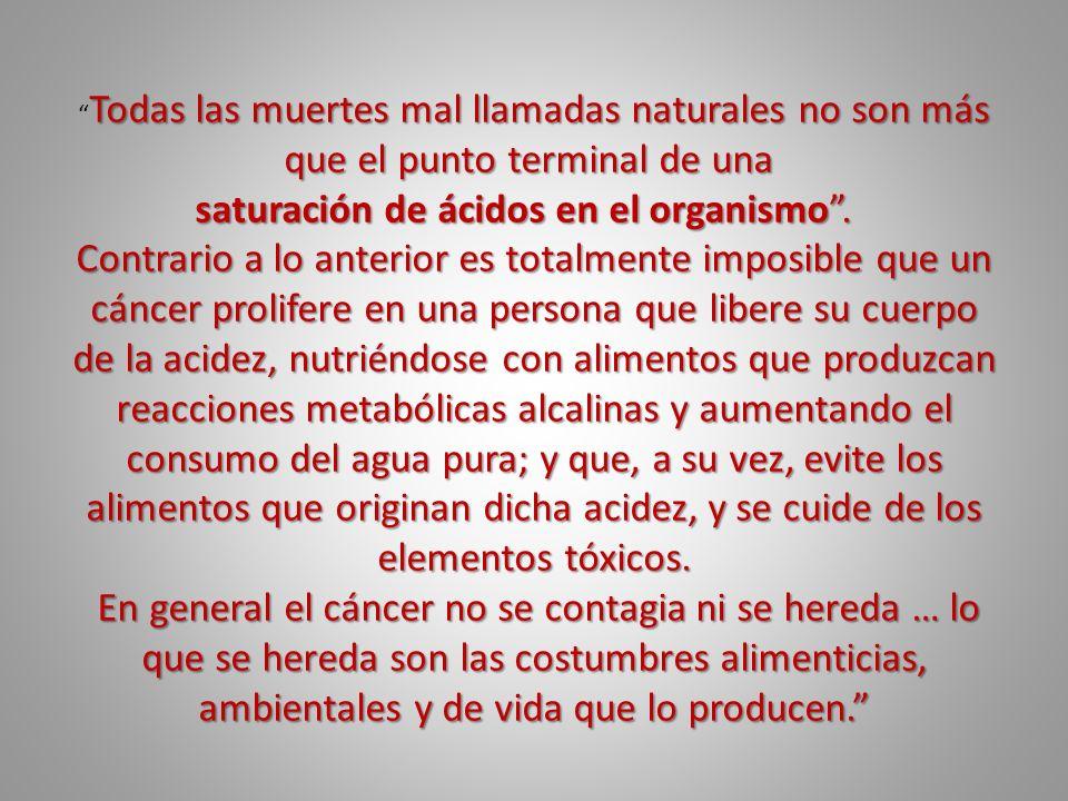 Todas las muertes mal llamadas naturales no son más que el punto terminal de una Todas las muertes mal llamadas naturales no son más que el punto term