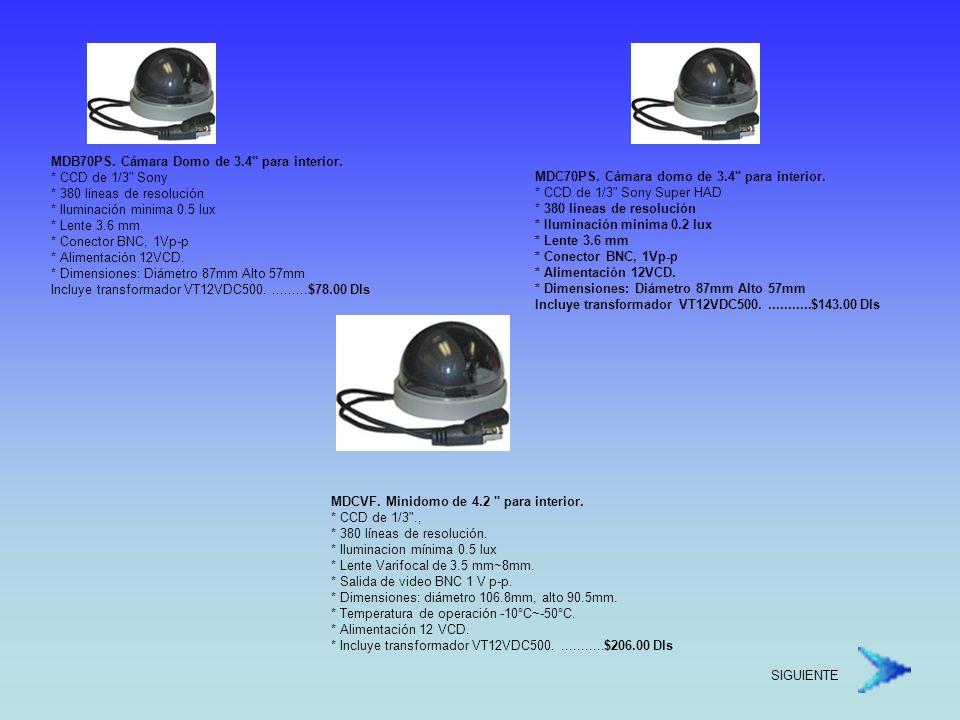 SK20M3D1AIN(SK1102SAA2).Domo varifocal para interior.