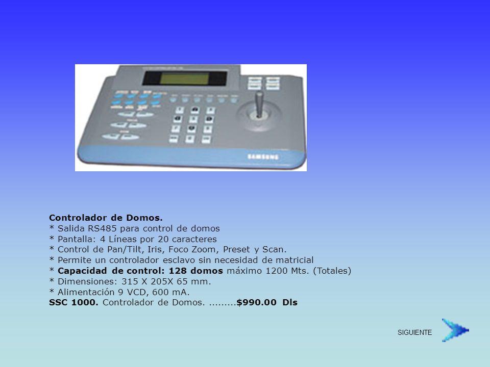 Cámara Domo Día y Noche (Wide Dynamic Range) * Zoom Optico de 22x (f=3.6~79.2mm) zoom digital de 10X * Salida de control en RS485 / RS422 * Función WDR * Función Dia / Noche * Iluminación mínima 0.007 Lux para color, 0.002 Lux para Blanco y Negro.