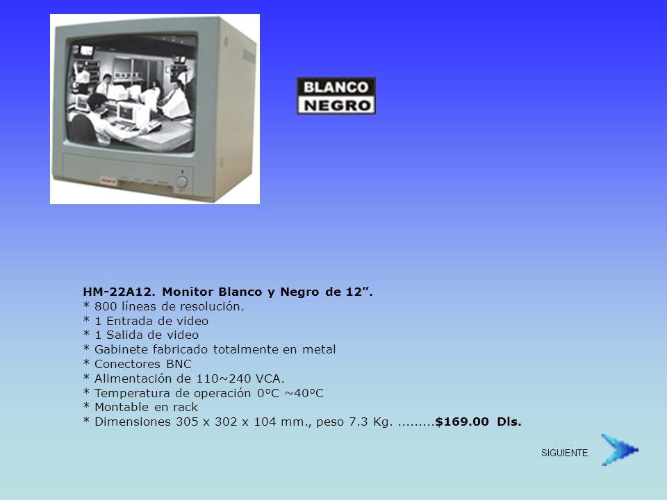 HM-1712A.Monitor a blanco y negro de 17 . * 900 líneas de resolución.