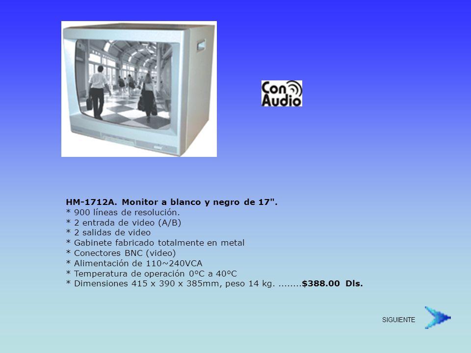 HM2012A.Monitor a blanco y negro de 20. * 900 líneas de resolución.