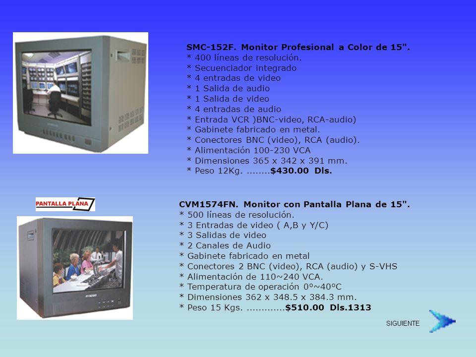 CVM1574N.Monitor de Alta Resolución de 15 . * 650 líneas de resolución.